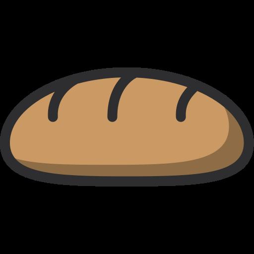 baguette, baker, bakery, dessert, food icon