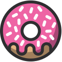 food, dessert, baker, bakery, donut icon