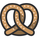 baker, bakery, dessert, food, pretzel icon