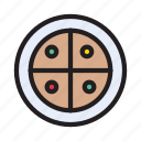 bakery, fastfood, junkfood, pizza, slice icon