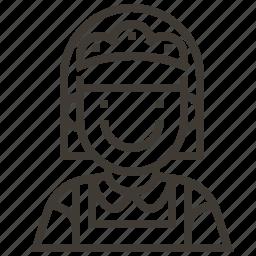 avatar, baker, girl, woman icon