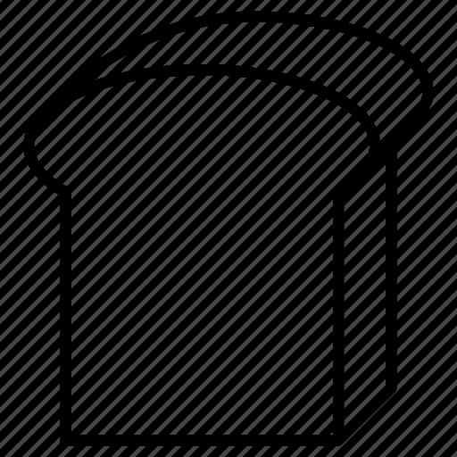 bakery, bread, slice, toast icon