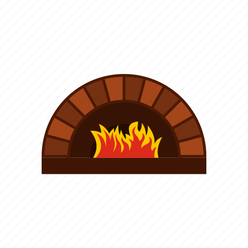 cooking, fire, food, heat, oven, pizza, restaurant icon