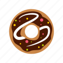 chocolate, dessert, donut, food, glazed, sugar, sweet icon