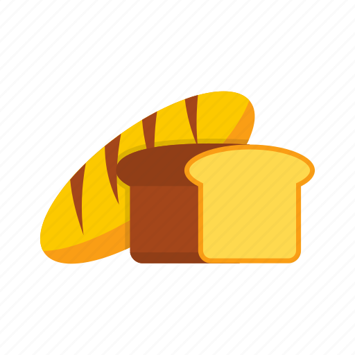 bread, brown, crust, food, healthy, loaf, wheat icon