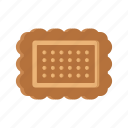 biscuit, cookie, delicious, food, rectangular, snack, sweet icon