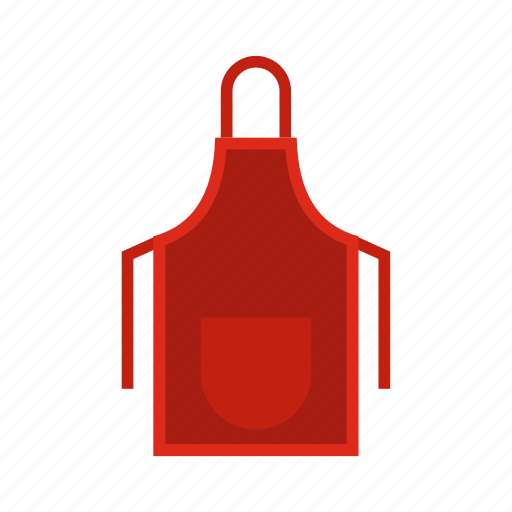 Apron, cloth, clothing, cooking, cotton, kitchen, protective icon - Download on Iconfinder