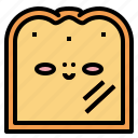 bread, breakfast, food, slice icon