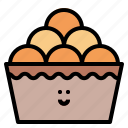 baked, bread, bun, roll icon