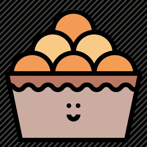 baked, bread, bun, roll icon