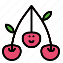 cherry, fruit, organic, sweet icon