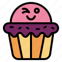 cupcake, dessert, muffin, sweet icon