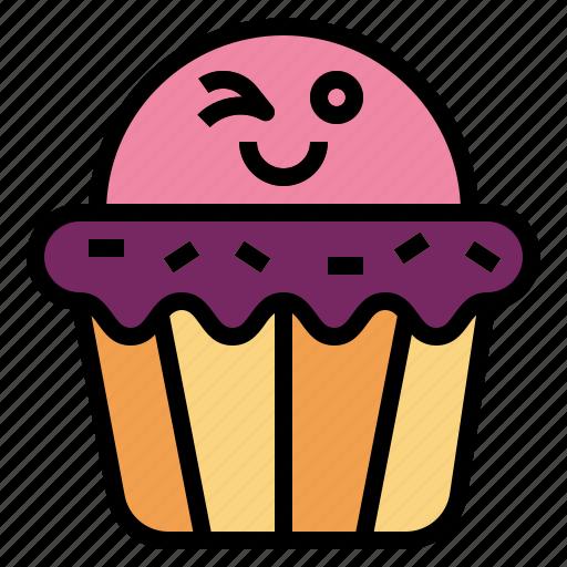 cupcake, dessert, muffin, sweet icon