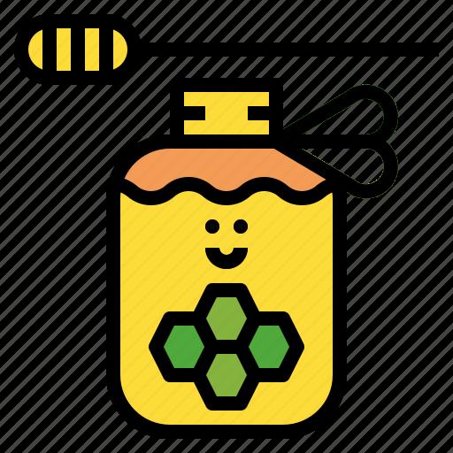 healthy, honey, jar, sweet icon