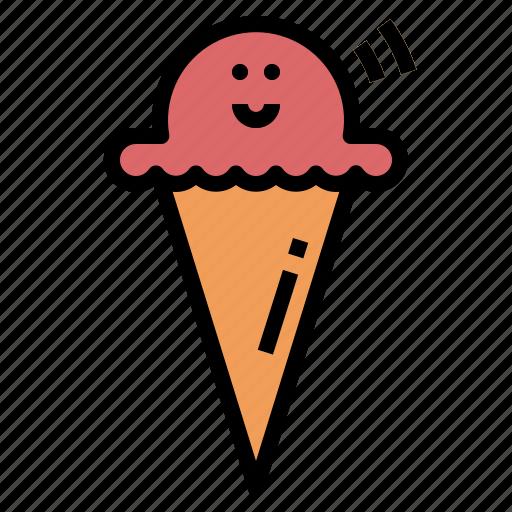 cream, dessert, ice, summer, sweet icon