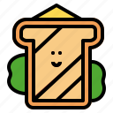 bread, breakfast, lunch, sandwich icon