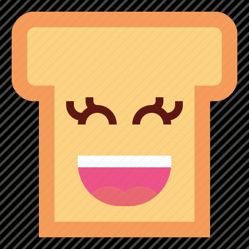 bread, food, slice, toast icon