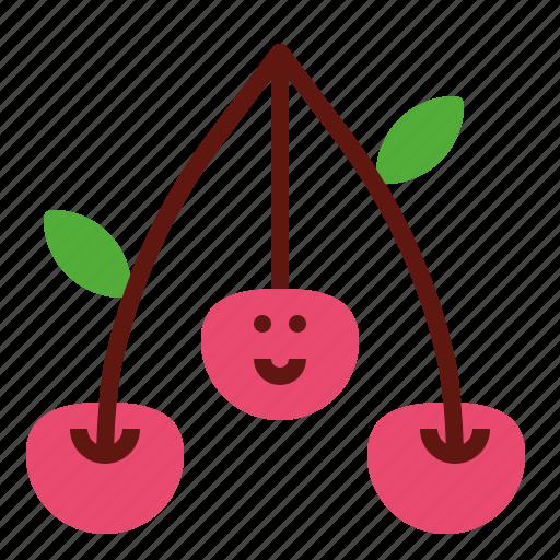 cherry, fruit, organic, sweet icon