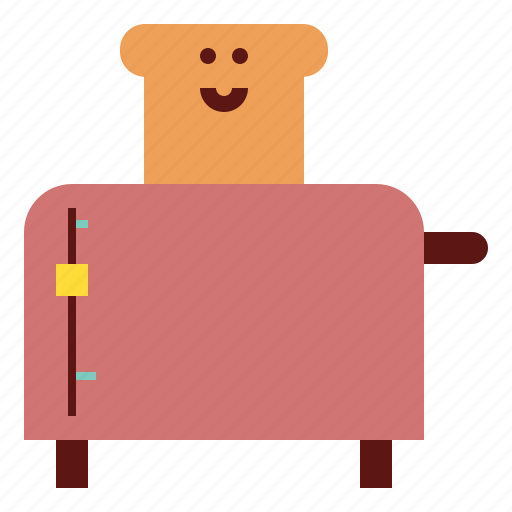 Bread, breakfast, toast, toaster icon - Download on Iconfinder