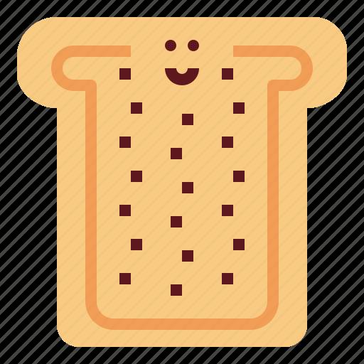 bread, breakfast, food, healthy, wheat icon