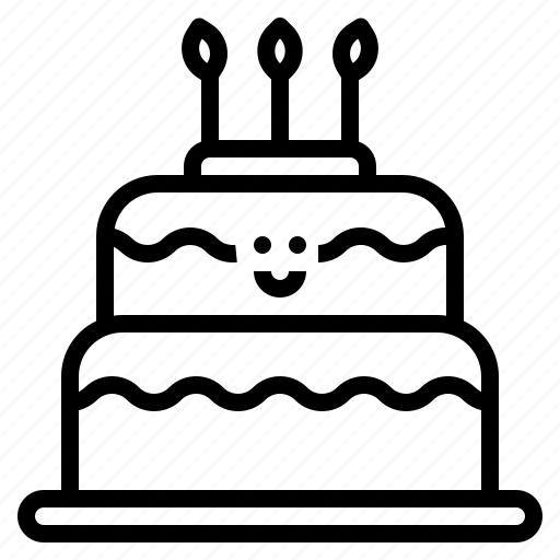bakery, birthday, cake, dessert, party icon