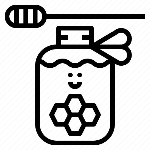 Healthy, honey, jar, sweet icon - Download on Iconfinder