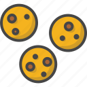 bakery, cookies, filled, food, outline, pastry icon