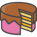 bakery, birthday, filled, food, outline, pastry icon