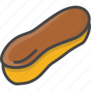 bakery, eclair, filled, food, outline, pastry icon