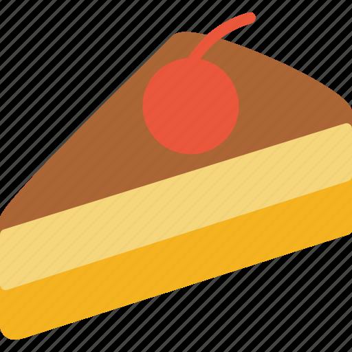 bakery, cherry, food, pastry, pie, slice icon