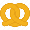 bakery, food, pastry, pretzel icon