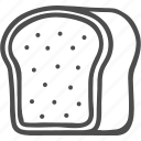 baker, bakery, bread, dessert, doodle, food