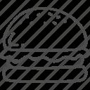 burger, doodle, fast, food, hamburger icon