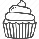 topping, cup, food, dessert, cupcake, doodle, cake icon