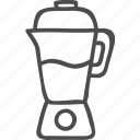 blend, blender, juice, kitchen, mix, outline, utensil icon