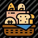 bake, bakery, basket, breads, picnic