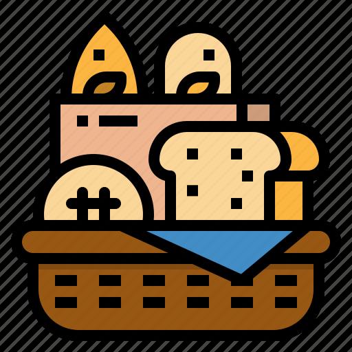 Bake, bakery, basket, breads, picnic icon - Download on Iconfinder
