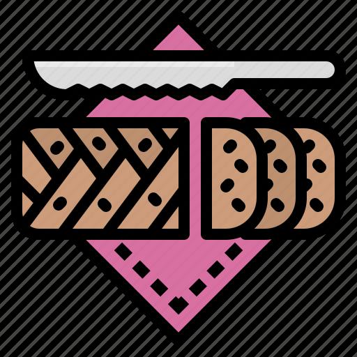 bakery, bread, brioche, french, homemade icon