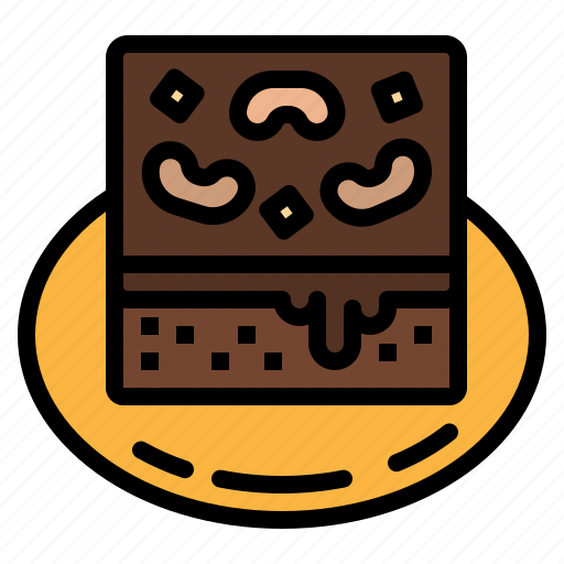 bakery, brownie, dessert, nutrition, pastry icon