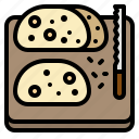 baker, bakery, bread, dough, sour icon