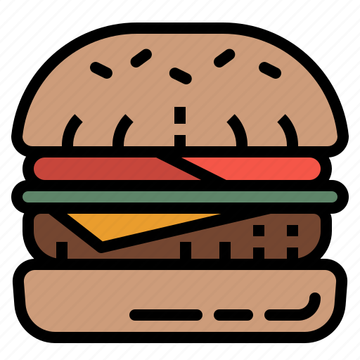 bun, burger, fast, food, hamburger icon