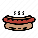 bun, food, hotdog, junk, sausage icon