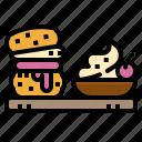 dessert, english, scone, sweet, tasty
