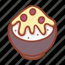 korean dessert, bowl, sweet, food, tasty, milk, bingsu