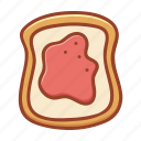 bakery, bread, food, jam, nutrition, slice, tasty icon