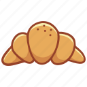 bakery, cook, croissant, doodle, food, pastry, sweet icon