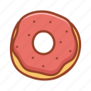 bakery, dessert, donut, doodle, food, sweet, tasty icon