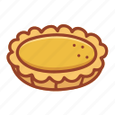bakery, dessert, doodle, egg tart, food, sweet, tasty icon