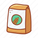 bakery, flour, food, cooking, wheat, ingredient, doodle