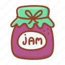 tasty, jam, sweet, cook, dessert, jar, kitchen icon